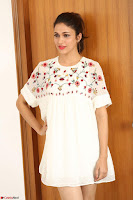 Lavanya Tripathi in Summer Style Spicy Short White Dress at her Interview  Exclusive 179.JPG