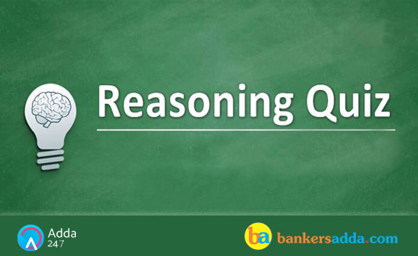 Reasoning Quiz for Indian Bank PO Mains : 15th October 2018