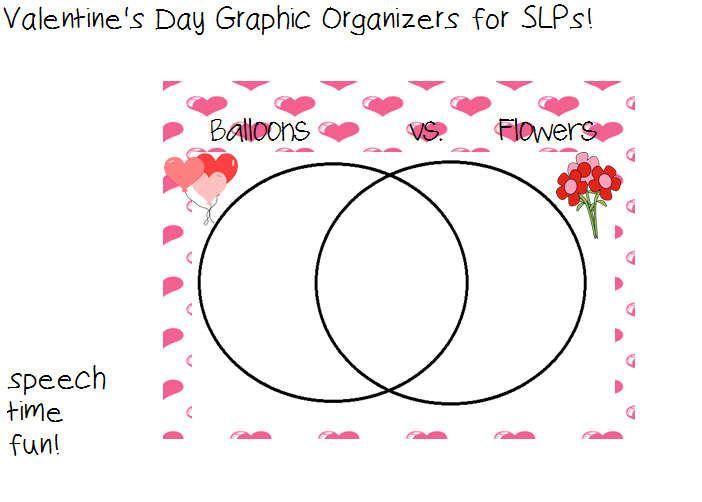 speechie freebies valentine 39 s day graphic organizers for slps. Black Bedroom Furniture Sets. Home Design Ideas