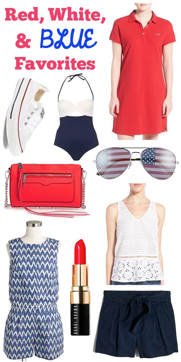 Red, White, & Blue Favorites for 4th of July!