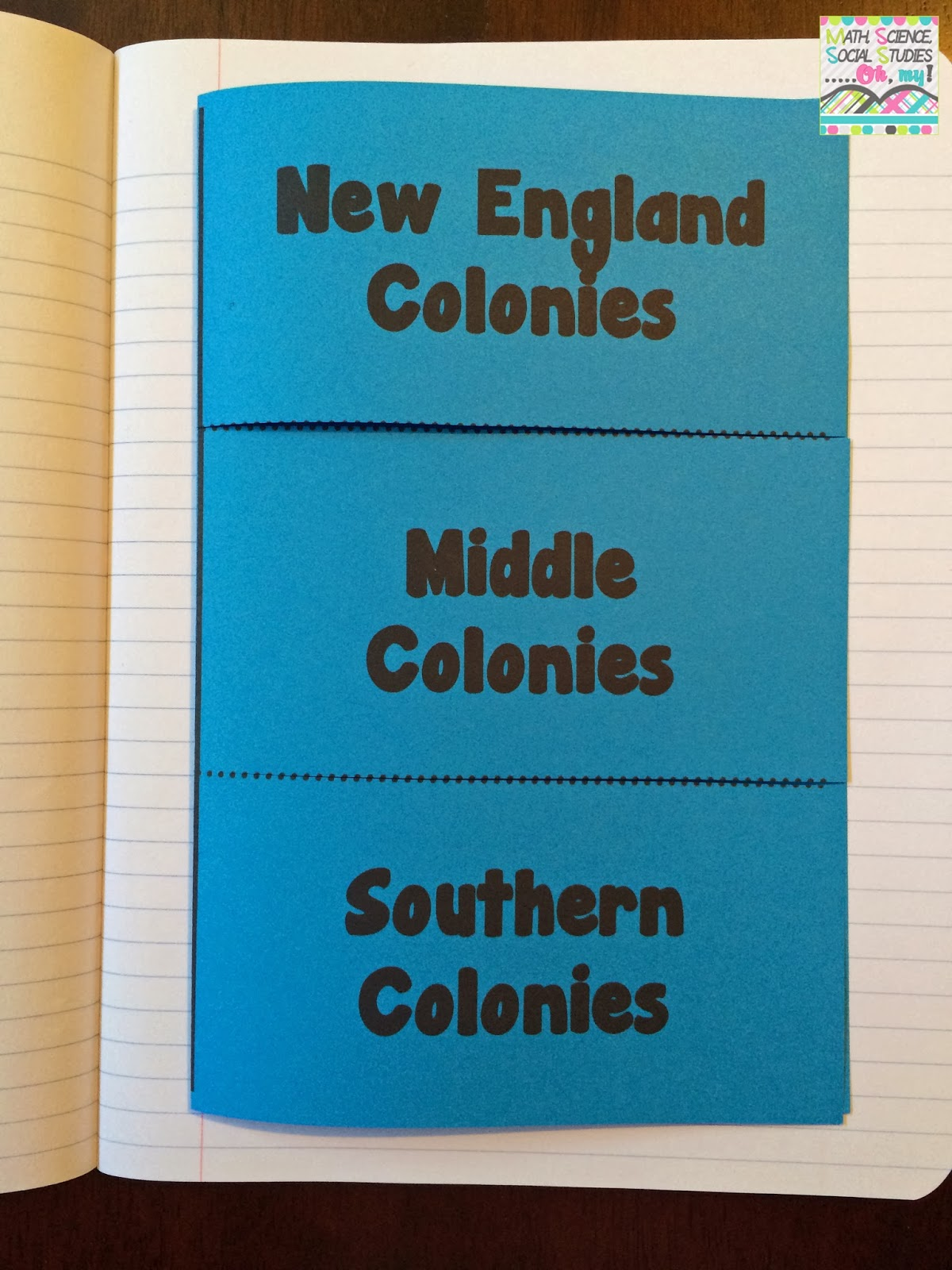13 English Colonies Interactive Notebook INB Technically