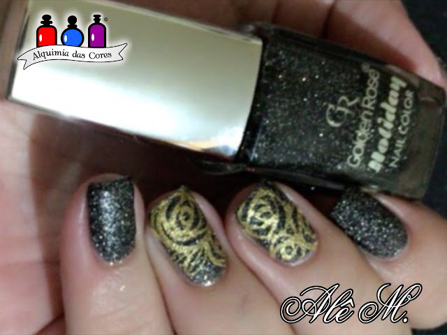 Golden Rose, Holiday Collection 50, Preto, Texturizado, Alê M.