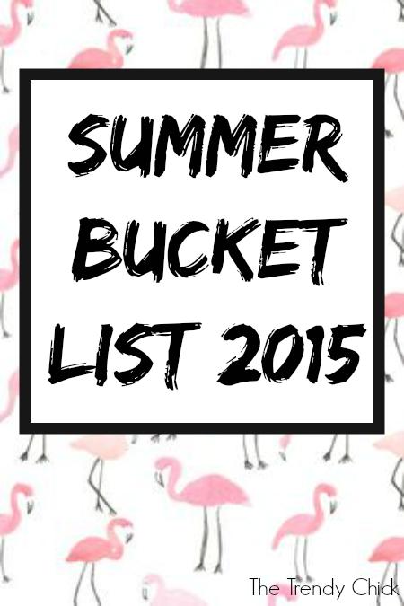 Summer Bucket List 2015