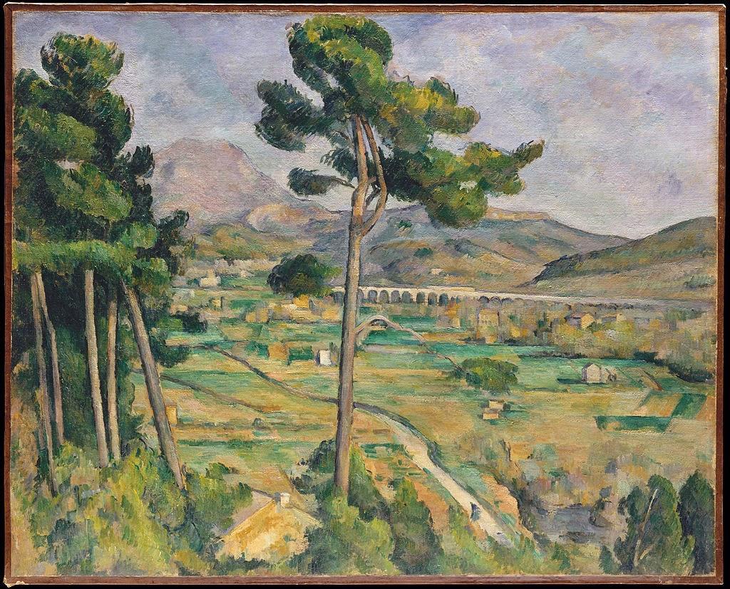 Monte Sainte-Victoire e o Viaduto no Rio Arc - Paul Cézanne e suas principais pinturas ~ O fundador da Arte Moderna
