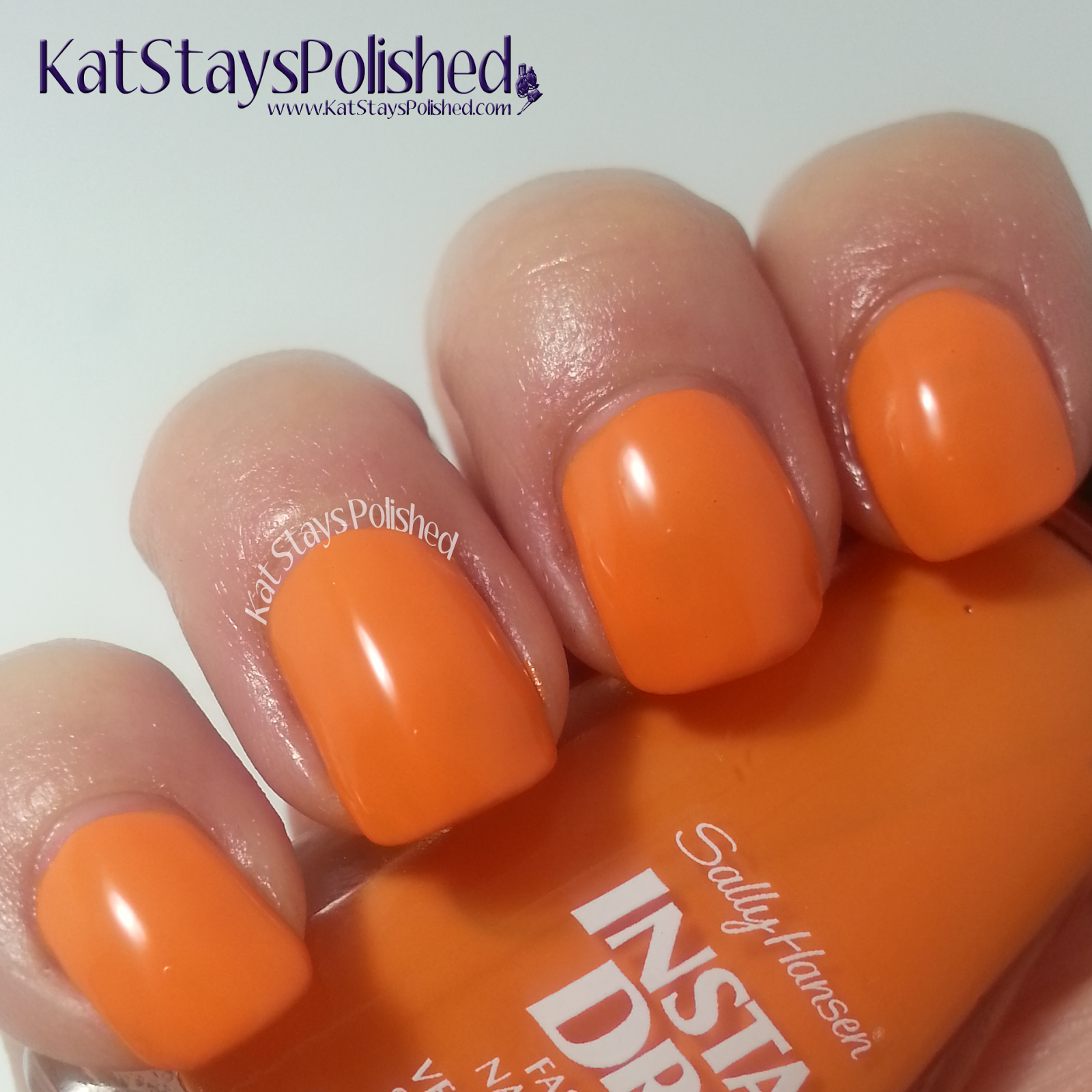 Sally Hansen Halloween 2014 - Insta-Dri Pumpkin Queen | Kat Stays Polished