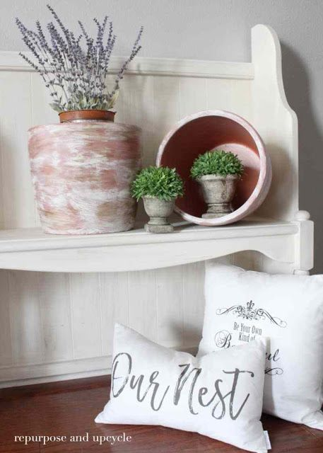How to Age Terracotta Pots with Paint