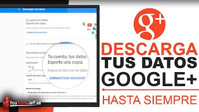 descargar mis datos de google+