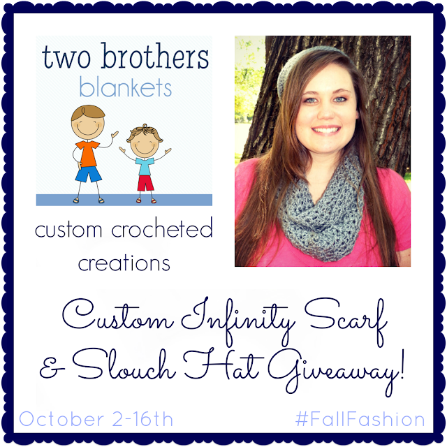 Infinity Scarf and Slouch Hat Giveaway from Two Brothers Blankets! #FallFashion