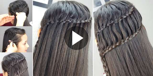 How To Create Braid Escalera And Ladder Braid 2-In-1 Hairstyle, See Tutorial