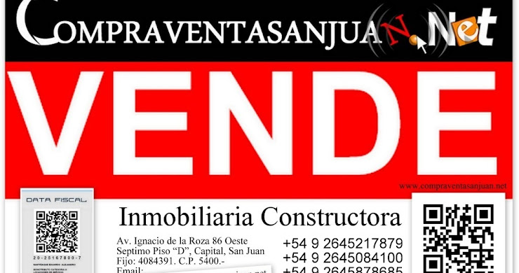 VENDO DUPLEX  EN POZO SOBRE AV. RAWSON, CAPITAL, SAN JUAN. ARGENTINA.