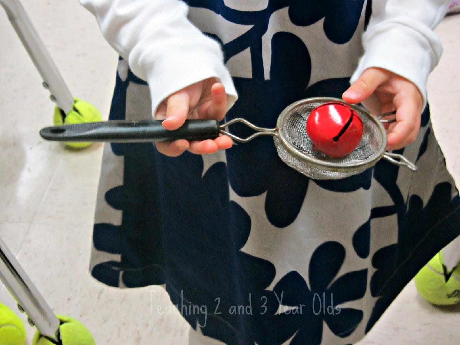 Preschool Christmas Fine Motor Using Jingle Bells