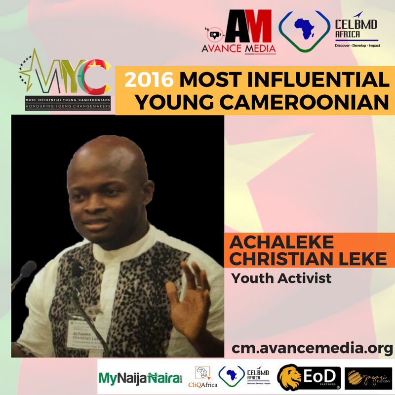 Achaleke Christian Leke Voted 2016 Most Influential Young Cameroonian
