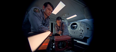Dr. David Bowman and Dr. Frank Poole, the spacecraft to Jupiter, 2001: A Space Odyssey (1968), directed by Stanley Kubrick