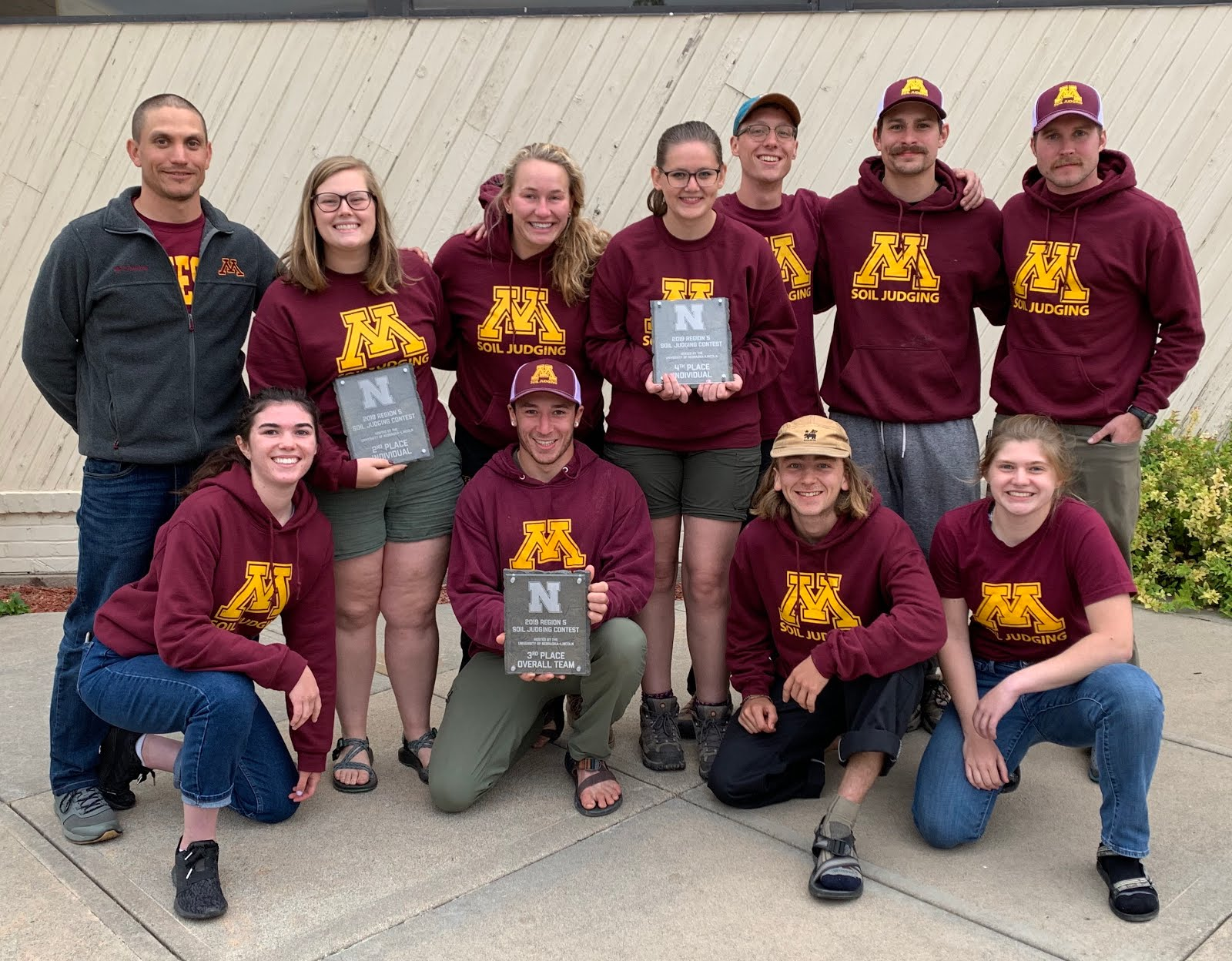 2019 University of Minnesota ASA Regional Soil Judging Team