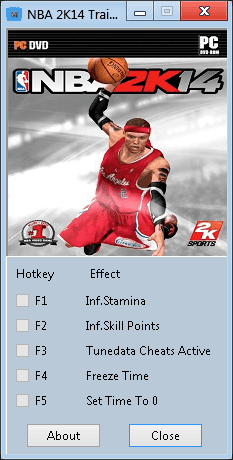 NBA 2K14 PC Cheats: +5 Trainer