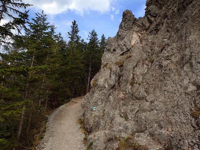 Jedna ze skałek na Gęsiej Szyi