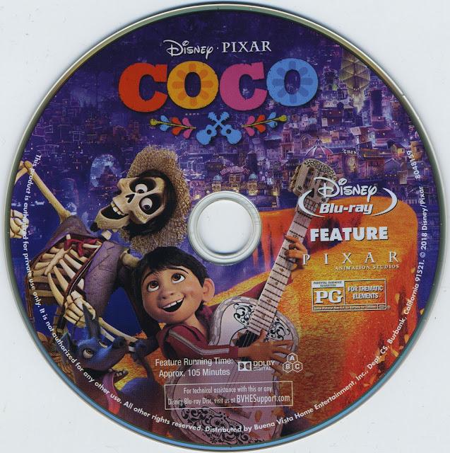 Coco Bluray Label