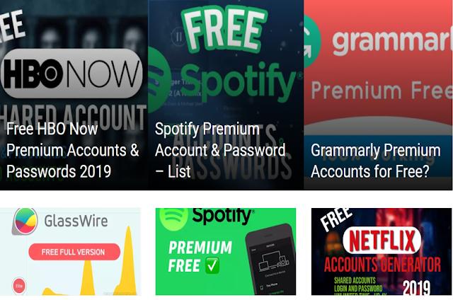 موقع يعتبر كنز للحصول على حسابات مدفوعة لnet-flix و سبوتيفلي مجانا