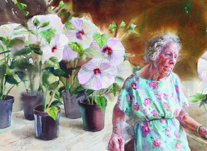 Фигуративные картины акварелью. Mary Whyte