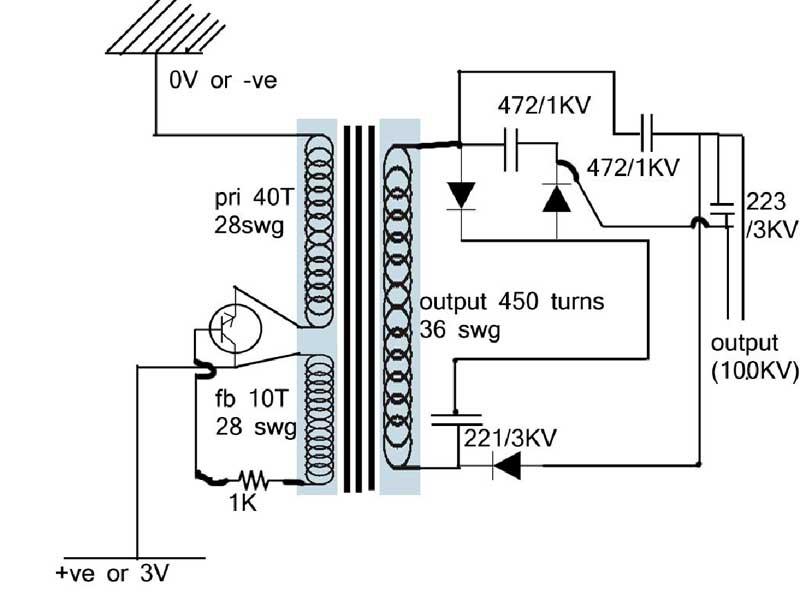 electric fence energiser circuit diagram
