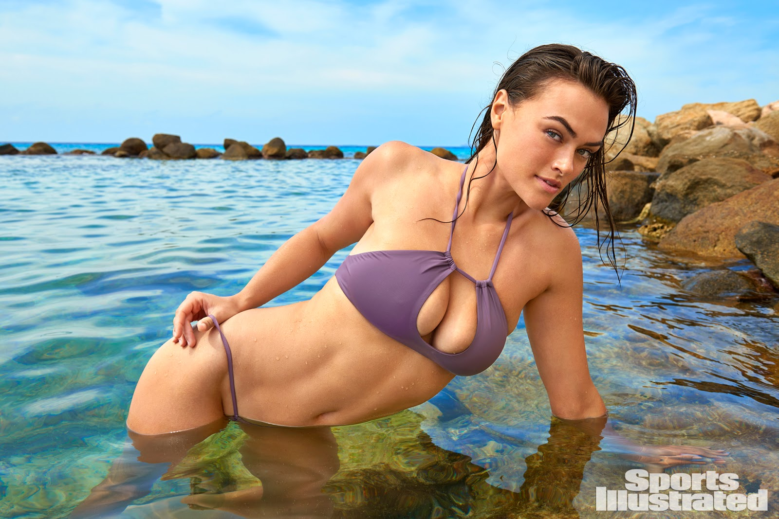 Myla Dalbesio was photographed by Yu Tsai in Aruba.