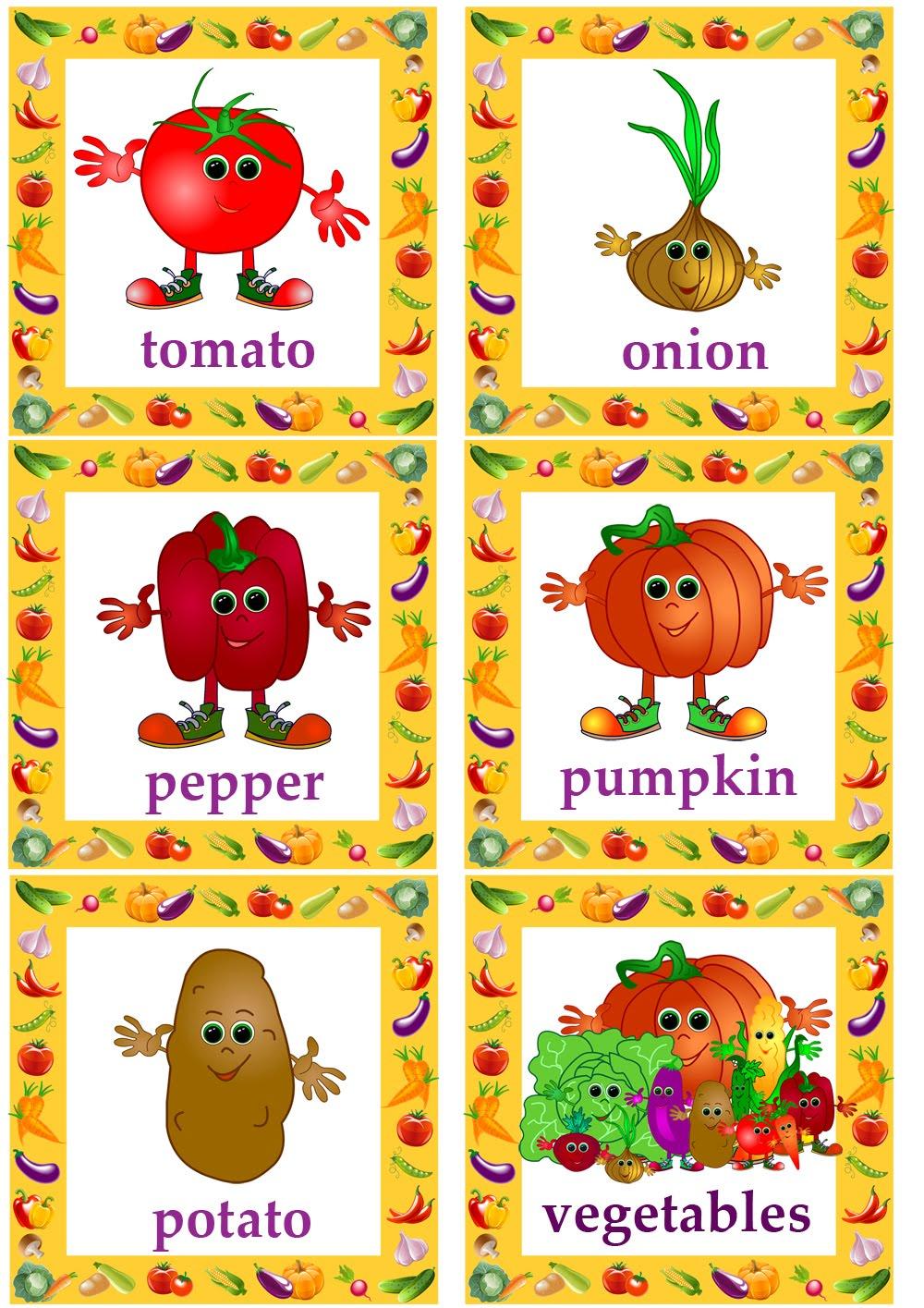 Joyful English For Kids Vegetables Day