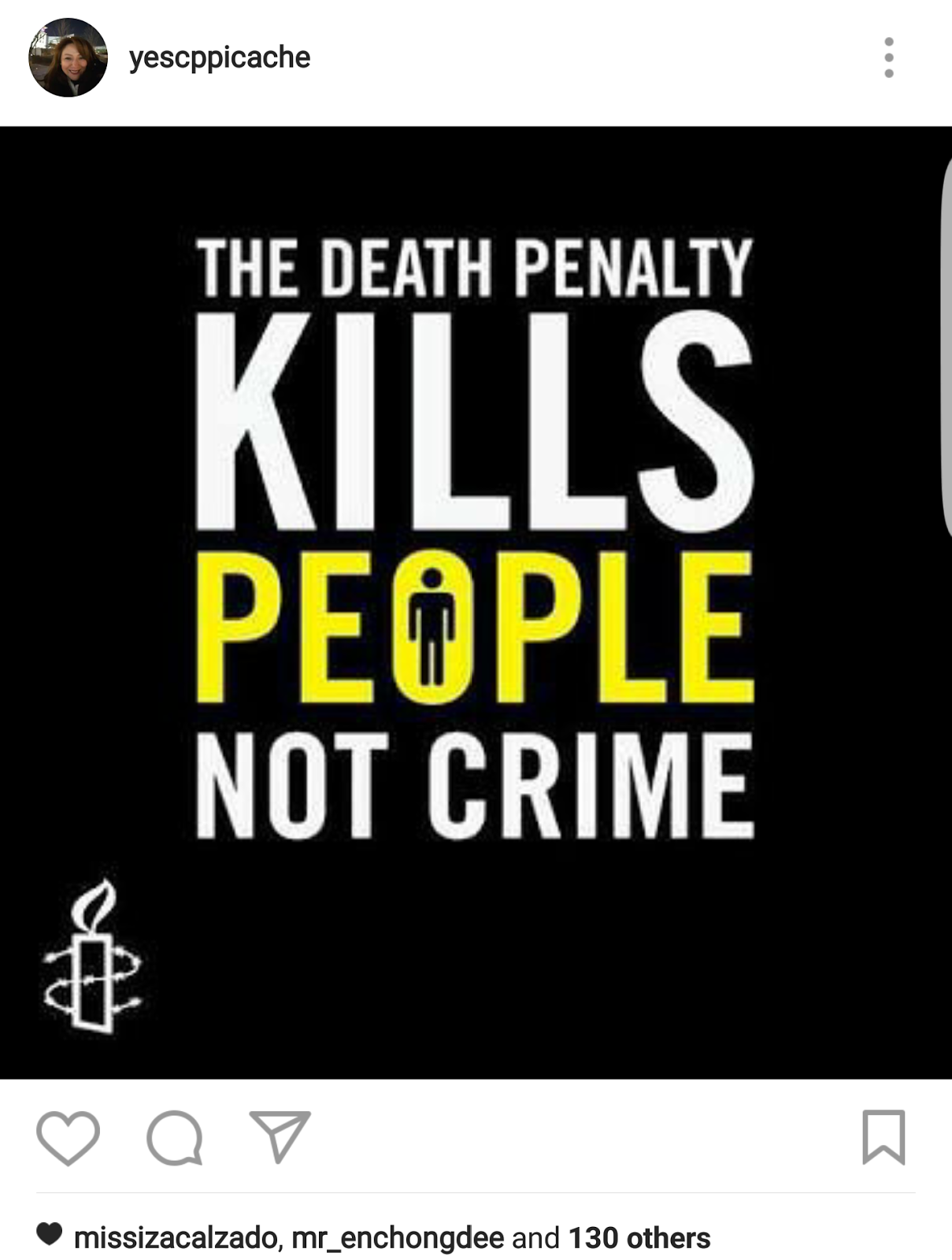 death penalty as a punishment for violating criminal laws such as murder Under international law capital punishment is allowed for the most serious crimes, such as murder, but sentencing someone to death for possession or selling of narcotics represents breaching of.