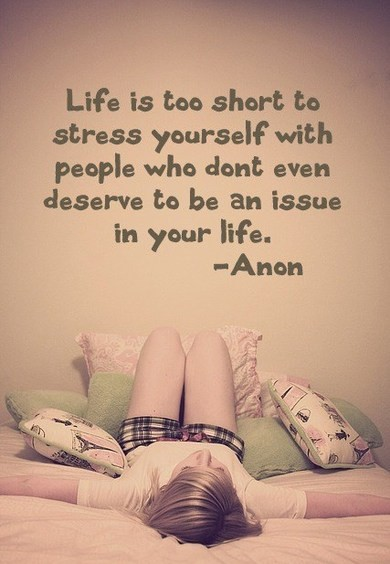 life is too short to stress