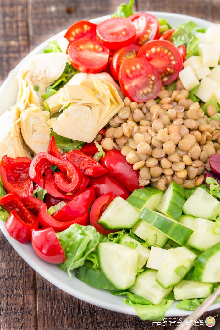 Healthy Lentil Vegetable Salad