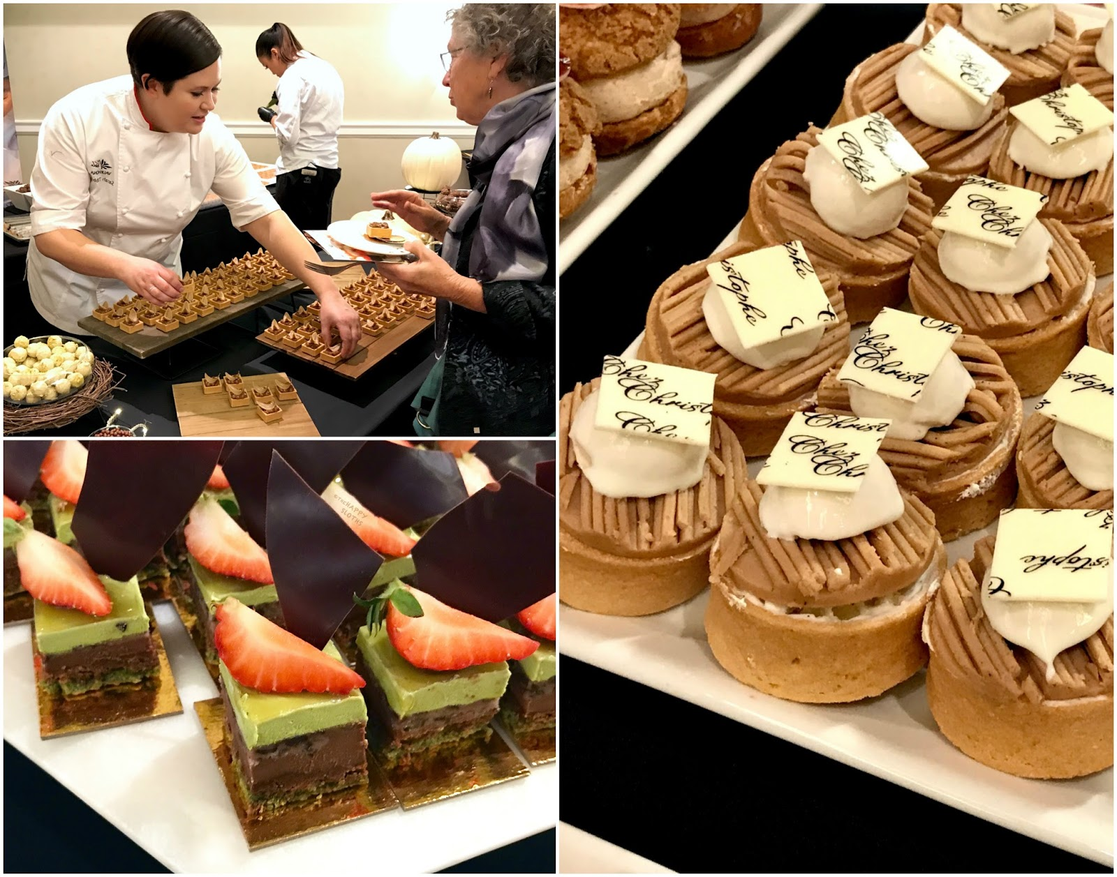 EAT! Pastry | Valrhona Chocolates | Miku Green Tea Opera Cake | Chez Christophe Assorted Petit Four
