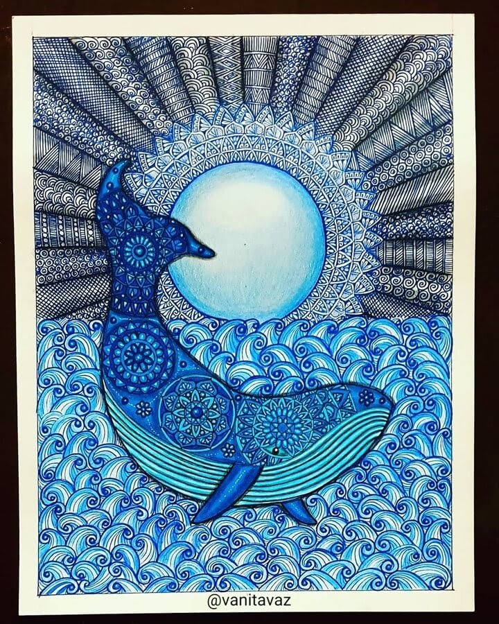 01-Blue-Whale-and-the-Moon-Vanita-Vaz-Mandala-and-Doodle-www-designstack-co