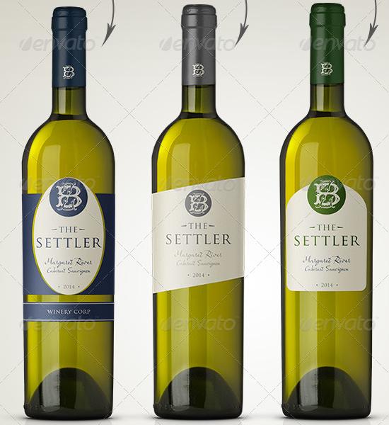 Free Wine Bottle Mockup Download