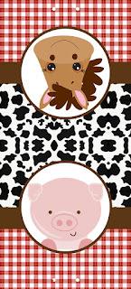 Etiquetas de La Granja Bebés para imprimir gratis.