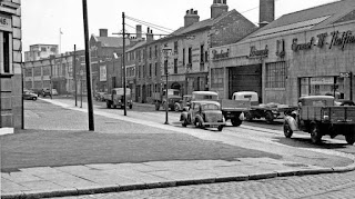 Ernest W Hatfield on Furnival Street, Sheffield 1953