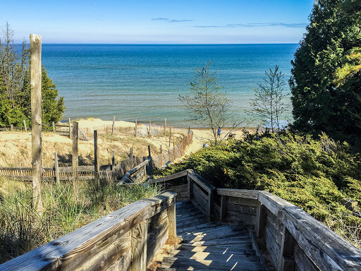 Beach Access #2 at Whitefish Dunes State Park in Door County