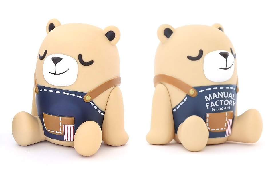 Unbox Industries /& Friends MF Bear Vinyl Figure LOG-ON Carnival Event Exclusive
