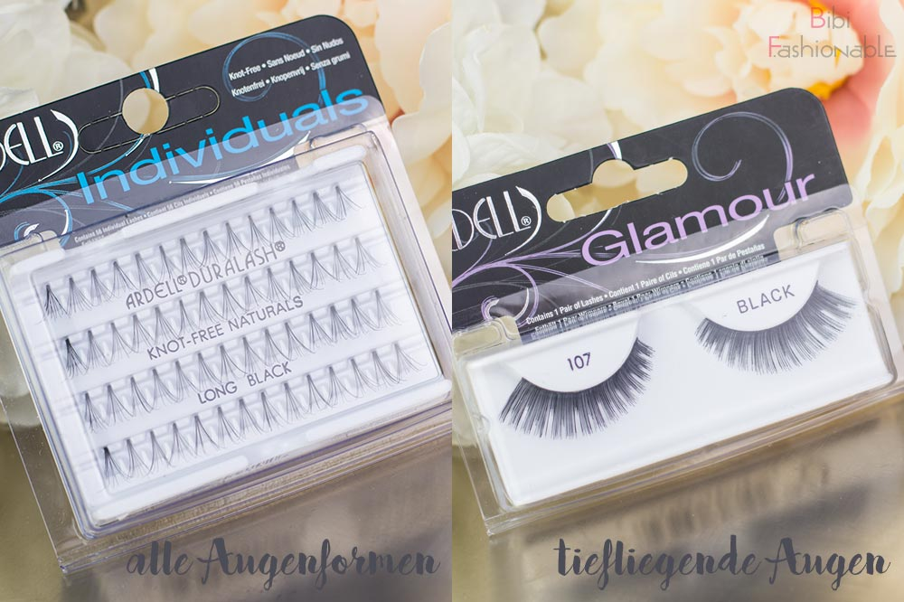 False Lashes Guide Ardell Lashes Individuall 107 Black