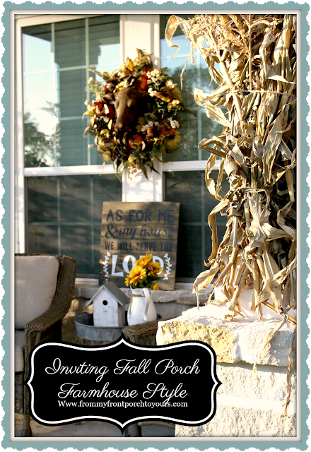 Fall Porch Decorations-Farmhouse Style-From My Front Porch To yours