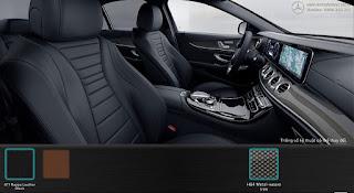 Nội thất Mercedes E300 AMG 2018 nhập khẩu màu Đen 811