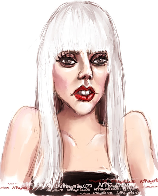 Lady Gaga is a caricature by  Artmagenta