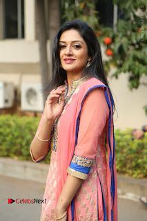 Actress Vimala Raman Stills in Beautiful Pink Salwar Kameez at (ONV) Om Namo Venkatesaya Press Meet  0131.JPG