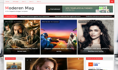 Modern Mag newspaper style blogger template