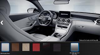 Nội thất Mercedes AMG C63 S Edition 1 2015 màu Xám Crystal 218