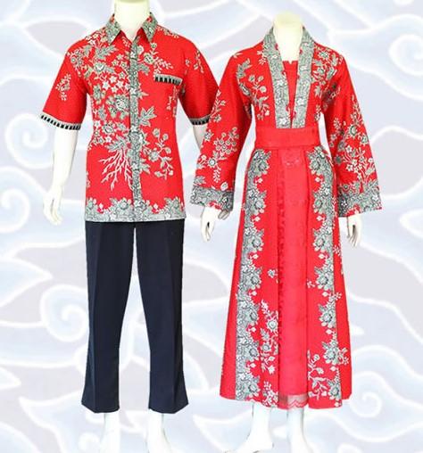 10 Model Gamis Batik Sarimbit Desain Terbaru 2018