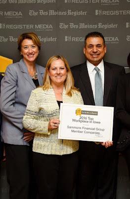 Midland National Top Workplace Award in Iowa