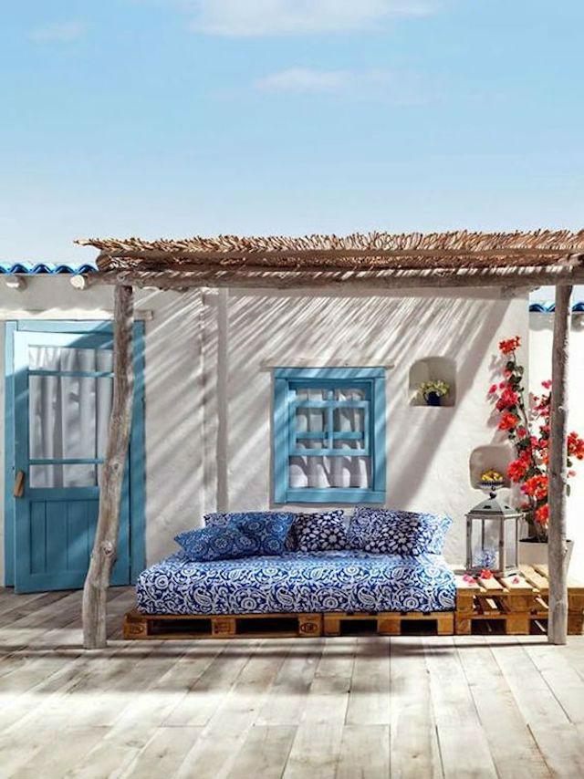 4 toldos originales (y low cost) para tu terraza o balcón. Toldo de cañizo
