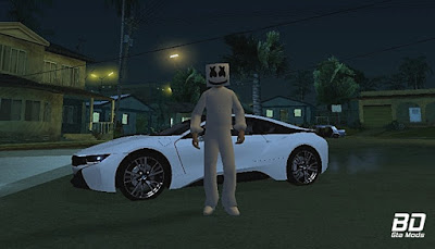Download , Mod , Skin , Marshmello Skin para GTA San Andreas , GTA SA , Jogo