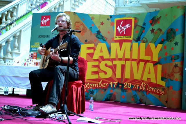Tim Hassall at Virgin Megastore's Family Festival