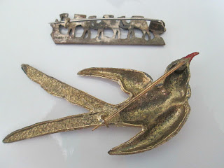 Antique brooch backs