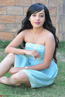 Sahana New cute Telugu Actress in Sky Blue Small Sleeveless Dress ~  Exclusive Galleries 057.jpg